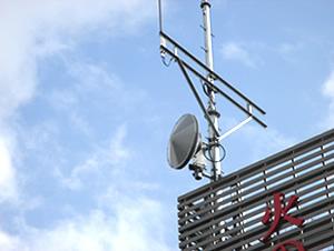 災害時に欠かせないデジタル防災行政無線にも当社の金物が使われています。