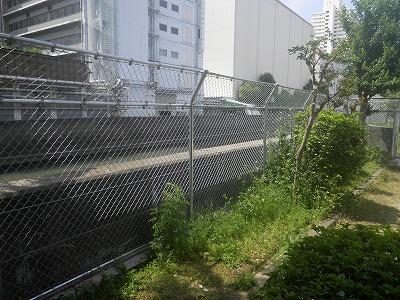 桃谷南公園フェンス改修