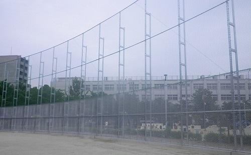 市岡元町公園の防球ネット設置施工