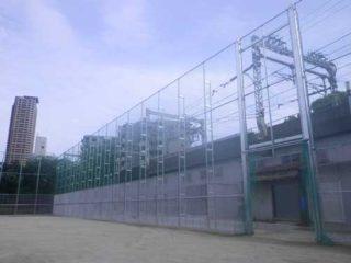 防球ネット工事を施工致しました。ー大阪市港区ー